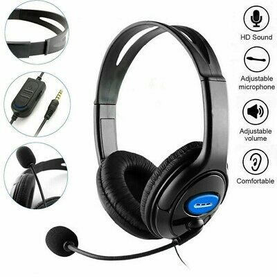 3.5mm Gaming Headset Headphone With MIC For PC Mac Switch Laptop PS4 Xbox One UK • 8.98£
