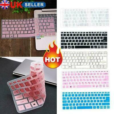 UK Universal Silicone Clear Desktop PC Keyboard Cover Skin Protector Film • 3.85£