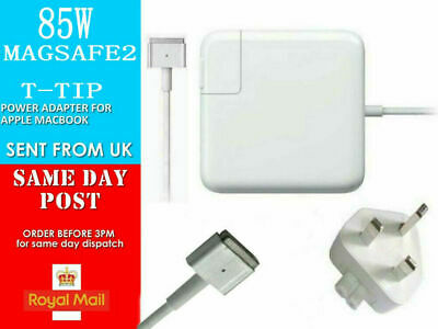 85W Mag Safe 2 Power Charger For Apple Mac Book Pro 15 17  2012,2013,2014,2015 • 20.99£