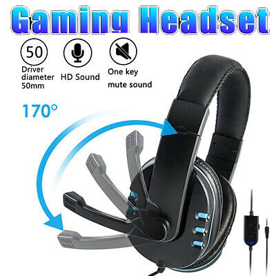 Gaming Headset For Xbox One PS4 Nintendo Switch Und PC 3.5mm Headphones With Mic • 11.98£
