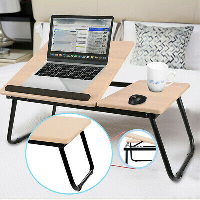 Laptop Table Folding Desk Stand Bed Tray Sofa Computer Study Adjustable Portable • 13.79£