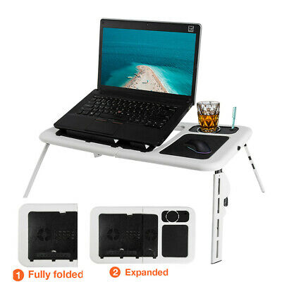 Laptop Table Stand Folding Desk Bed Computer Study Adjustable Portable Sofa Tray • 15.99£