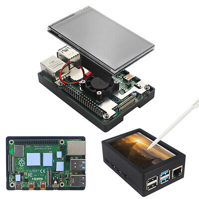 3.5 Inch TFT Touch Screen With Case Fan Radiator Kit For Raspberry Pi 4B • 17.13£