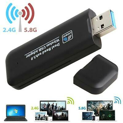 USB 3.0 Wireless WiFi Network Receiver Adapter 5GHz Dual Band Dongle • 10.69£