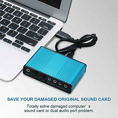 6 Channel External Sound Card 5.1/7.1 Optical S/PDIF Audio Sound Card Adapter ZX • 11.84£