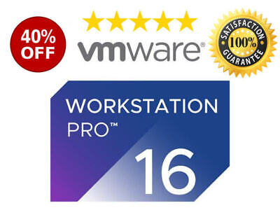 VMware Workstation 16 Pro LIFETIME KEY 🔑 Official 2020 Unlimited Computers [ FA • 5.66£