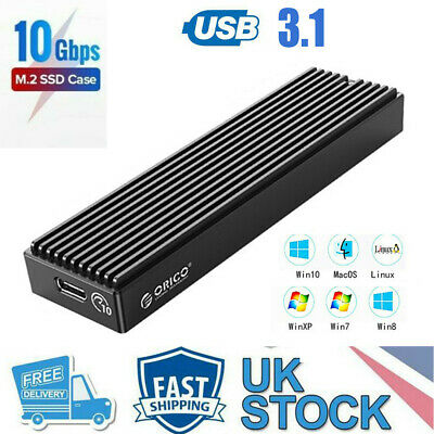ORICO 10Gbps M.2 NVME To USB 3.1 Enclosure Adapter Type-C SSD External Case Box • 15.89£