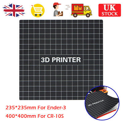 Hot Bed Sticker 235X235/400X400mm Build Plate Pad For Ender-3 CR-10S 3D Printer • 14.99£