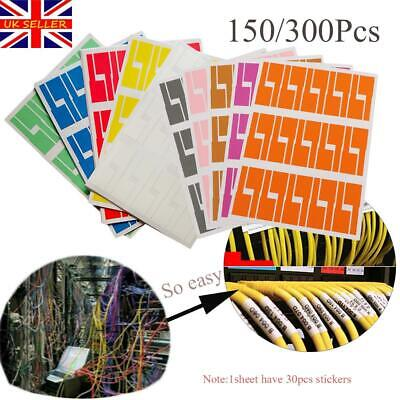 Self-adhesive Cable Sticker Waterproof Identification Tags Labels Organizers • 4.48£