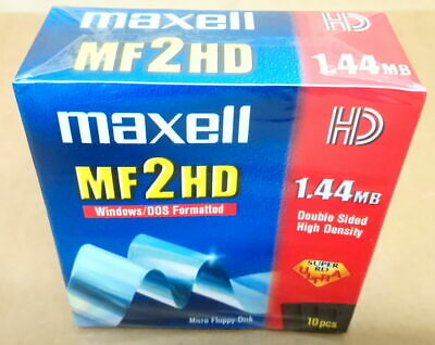 10 X Maxell MF-2HD : DS 2HD FORMATTED 3.5  Floppy Disks - NEW / SEALED • 10£
