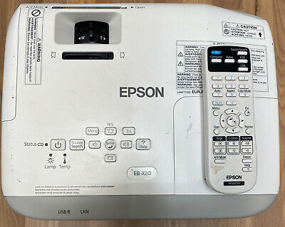 Epson EB-X8 LCD Projector With Remote And Ceiling Mount. 467 Lamp Hours. • 130£