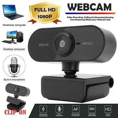 1080P Full HD Webcam USB Auto Web Camera With Microphone For PC Desktop Laptop • 9.99£