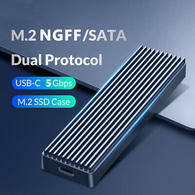 5Gbps M.2 NGFF To USB 3.1 SSD Enclosure Adapter Type-C SSD External Case Box- • 10.84£