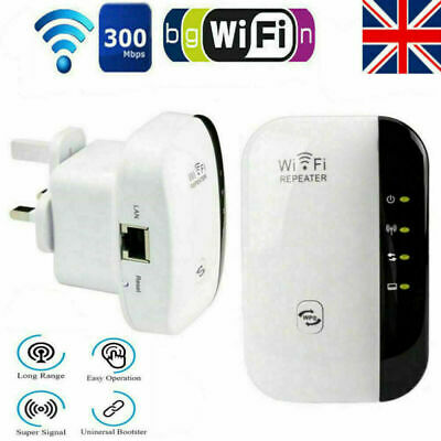 WiFi Range Extender Super Booster 300Mbps Superboost Speed Wireless Repeater S • 9.89£