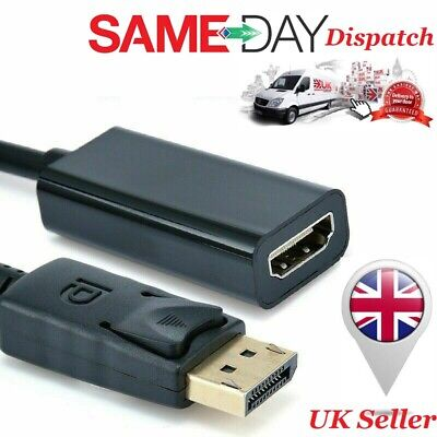 DP Display Port To HDMI Adapter Male To Hdmi Female Converter With Audio For PC • 4.79£