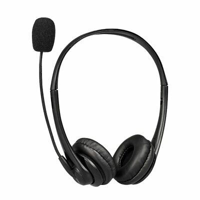 USB Headphones With Microphone Noise Cancelling Headset For Skype Laptop NEW • 14.75£
