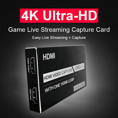 4K 60Hz HDMI Video Capture Card HDMI To USB 3.0 Loop Out For PC Live Streaming • 25.49£