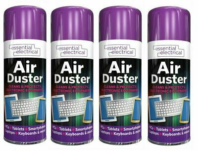 200ml Compressed Air Duster Dust Blower Laptop PC Keyboard Mobile 1 Can To 4 Can • 5.99£