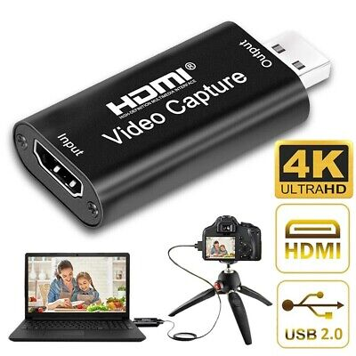 HDMI To USB Video Capture Card 1080p HD 4K For Game Live Streaming Portable USB • 8.49£