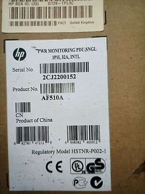BRAND NEW HP Power Monitoring PDU S1132 AF510A1 Phase 32A/230V 32xC13 • 65£