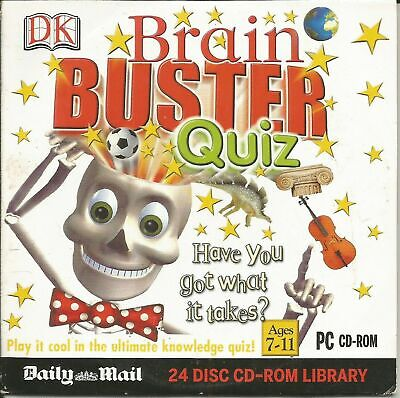 Daily Mail DK BRAIN BUSTER QUIZ  PC CD-ROM Promo  • 2£
