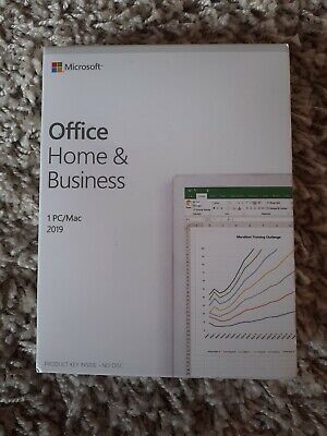 Microsoft Office 2019 Home & Business PC MacWord Excel Outlook Lifetime F SEALED • 150£