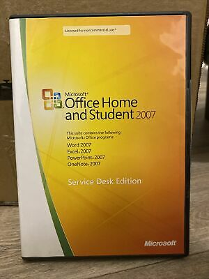 Microsoft Office Home And Student 2007 Service Desk Edition VGC • 14.90£
