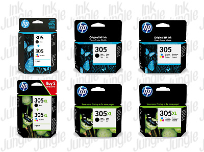 Original HP 305 305XL Black Colour Ink Cartridge For ENVUY 6022 Printer • 38.25£