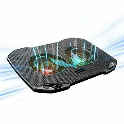 Laptop Cooling Pad, Gaming Laptop Cooler With 2 Quiet Big Fans, RGB 7 Color • 25.99£