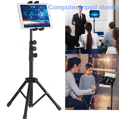 3 Section Retractable Tablet Tripod Floor Stand For 12.9  Ipad Iphone Live Show • 14.99£