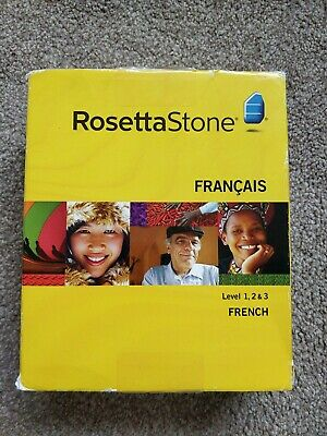 Rosetta Stone French  Level 1, 2 And 3 • 7.70£