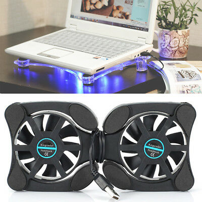 Portable Gaming Laptop Notebook Cooling Stand Pad With 2 Fan Chill Mat Cooler • 6.69£