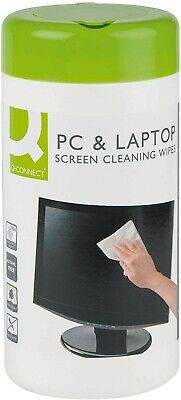 Q-Connect KF04501 Screen And Keyboard Wipes (Pack Of 100) • 3.20£