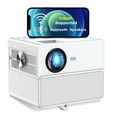 TOWOND  Full HD 1080P, 6500Lux Wireless Outdoor Video/Movie Projector, Blueooth • 213.23£