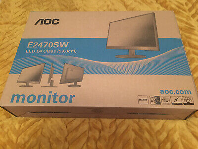 Aoc Monitor E2470sw Model Number Brand Nee Everything Sealed Even In Box Rrp139 • 10.50£