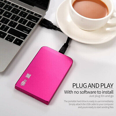 USB3.0 External Mobile Hard Drive Disk HDD 2TB Storage Device For PC Laptop Qd • 21.19£