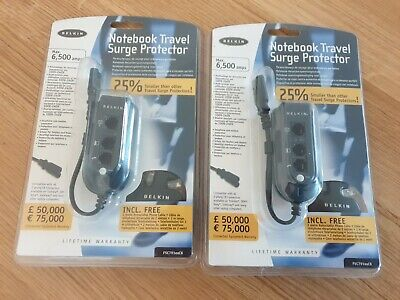 *NEW* Belkin Notebook Travel Surge Protector X 2 • 11.90£