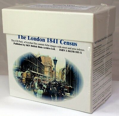 London 1841 Census LICENCED CD SET S&N Direct • 19.95£