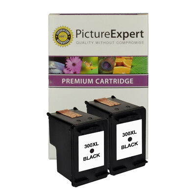 Remanufactured 300XL / CC641EE Black Ink X 2 ( Twin Pack ) For HP Printers • 18.90£