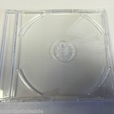 25 X Cd 'maxi' Single Cd Cases - Brand New - 6mm J Card Inlay    Not Super Slim  • 9.79£