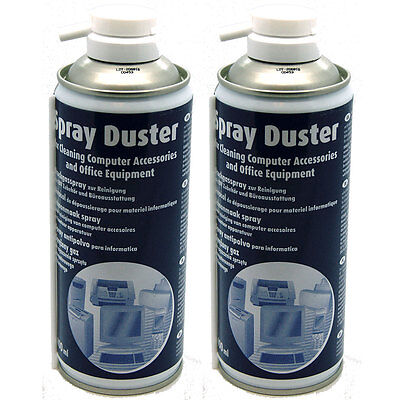 2 X Compressed AIR DUSTER/CLEANER 400ml SPRAY CAN / CANS - Made In Germany NEW • 7.50£