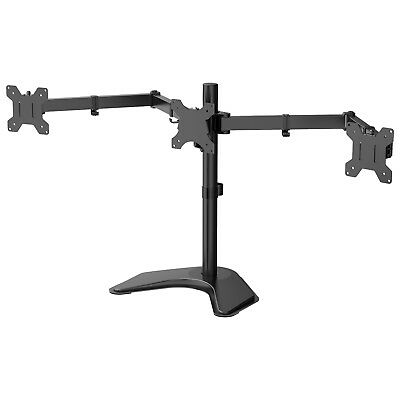 "Triple Arm Desk Mount Bracket Stand LCD LED Monitor Computer 13""-24"" Screen TV • 31.99£"