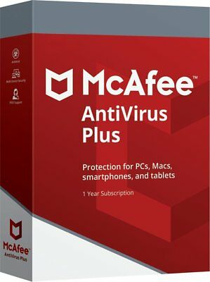 McAfee 2020 AntiVirus Plus UNLIMITED Devices 1 Year For PC Mac Android • 3.99£