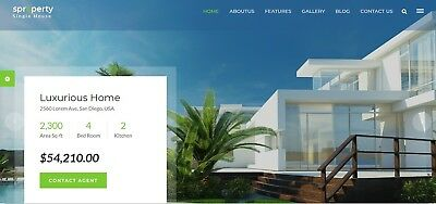 Website Html Template Single Property Real Estate • 19.99£
