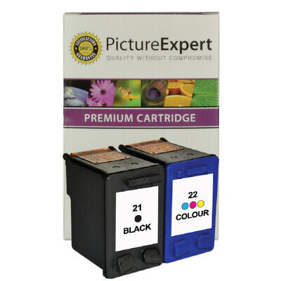 Remanufactured 21 22 Ink Cartridges ( Black And Colour ) For HP DeskJet F4180 • 17.85£