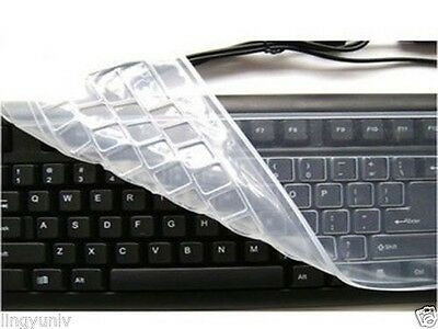 1x Universal Silicone Keyboard Protector Keyboard Cover Skin For Desktop PC • 2.19£