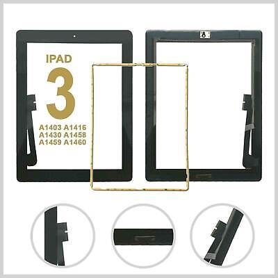 Touch Screen Digitizer Glass Lens For IPad 3 A1416 A1430 A1403 IC -Black • 8.99£