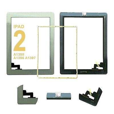 Touch Screen Digitizer Glass Lens For IPad 2 A1395 A1396  Replacement Button IC • 8.49£