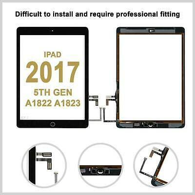 For IPad 2017 5 A1822 A1823 Touch Screen Glass Lens Digitizer Replacement -Black • 12.99£