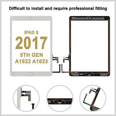 Touch Screen Digitizer Replacement  For 2017 9.7 IPad 5th Generation A1822 White • 13.99£